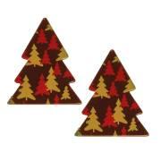 2 Sapins de Noël - Chocolat Noir