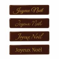 4 Plaquettes Joyeux Noël - Chocolat au Lait