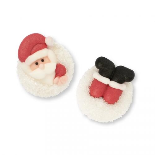 2 Pères Noël sur Boule de Neige - Sucre