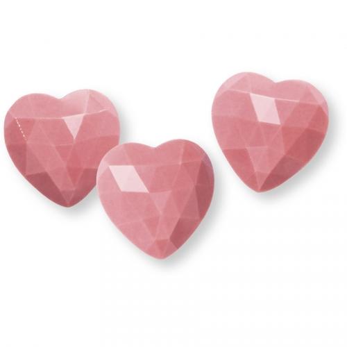 3 Coeurs Diamants Rose  - Chocolat