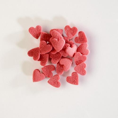 Mini-cœurs rouges à Parsemer