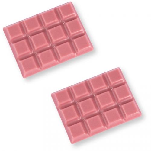 2 Mini Tablettes en Chocolat - Rose