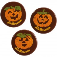 3 Mini Disques Halloween Ø3 cm - Chocolat