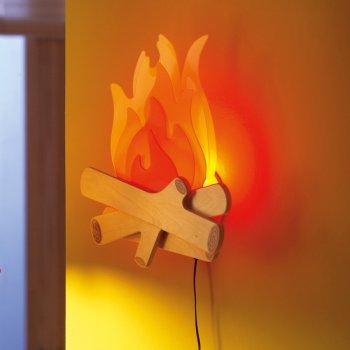 Lampe veilleuse feu de camp