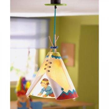 Lampe plafonnier petit indien et tippi
