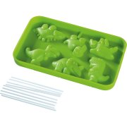 Moule Silicone 6 Sucettes Chocolat Dinosaures