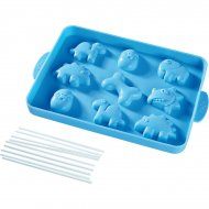 Moule Silicone 9 Cakes pop Dinosaures