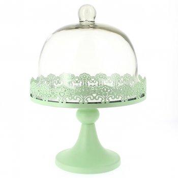 Grand Présentoir avec Cloche Vert pastel