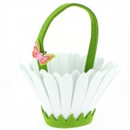 Panier Fleur Blanc