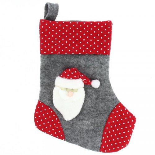 Botte de Noël Père Noël (23 cm) - Feutrine et Peluche