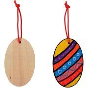 6 œufs à décorer en bois