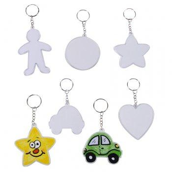 Set de 20 porte-clés à décorer