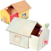 Boîte Maison à secrets à décorer en bois
