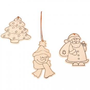 3 motifs de Noel à décorer