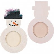 Support Bougie Chauffe-plat Bonhomme de neige à décorer