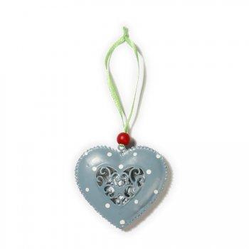 Suspension Coeur Bleu Ajouré (6 cm) - Métal