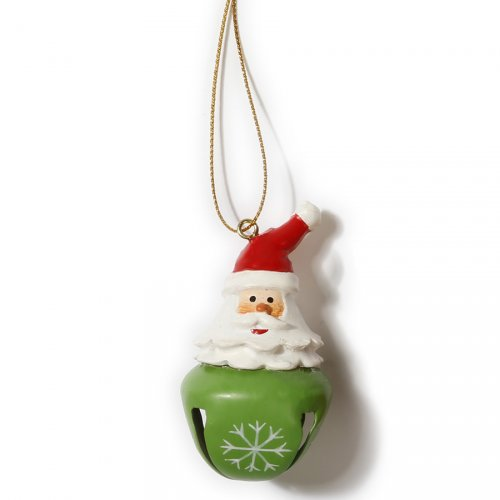 Suspension Grelot Père Noël (6 cm) - Métal et Résine