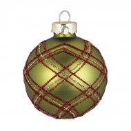 Boule Tartan Vert (6 cm) - Verre