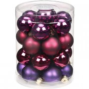 28 Mini Boules Harmonie Violet (3 cm) - Verre