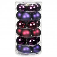 24 Boules Harmonie Violet (6 cm) - Verre