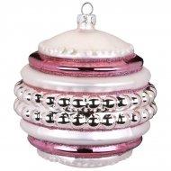 Boule Bijou Maxi Rose Perle (10 cm) - Verre