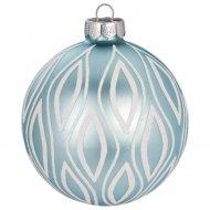 Boule Noël Givré Bleu N°1 (8 cm) - Verre