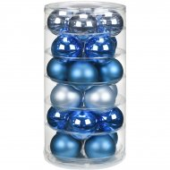 24 Boules Harmonie Bleu magique (6 cm) - Verre