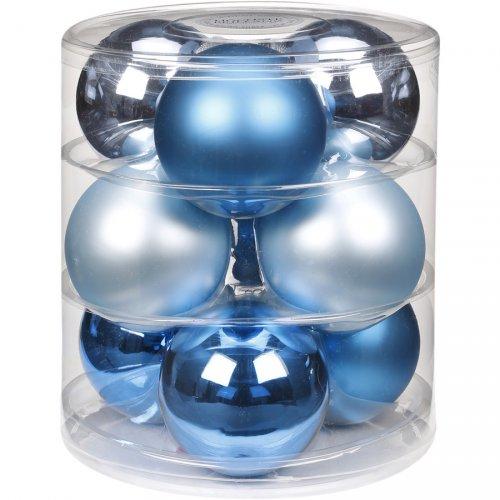 9 Boules Maxi Bleu Magique (9 cm) - Verre