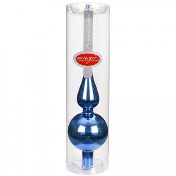 Pointe de Sapin Bleu nuit Miroir (28 cm) - Verre