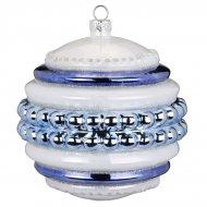 Boule Bijou Maxi Bleu Perle (10 cm) - Verre