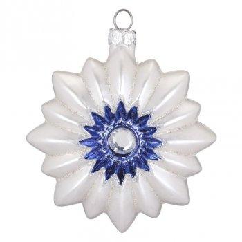 Boule Bijou Bleu Soleil (8 cm) - Verre