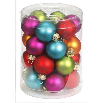 28 Mini Boules 5 Couleurs (3 cm) - Verre