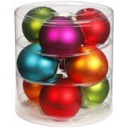 9 Boules Maxi 5 Couleurs (9 cm) - Verre