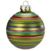 Boule Noël Fantaisie Vert N°1 (6 cm) - Verre