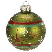 Boule Noël Fantaisie Vert N°3 (6 cm) - Verre