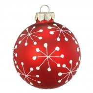 Boule Noël Fun Flocon (6 cm) - Verre