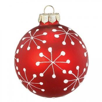 Boule Noël Fun Flocon (6 cm) - Verre
