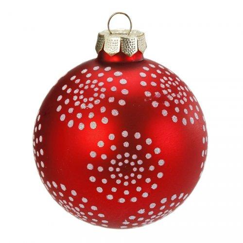 Boule Noël Fun Flocons à Pois (6 cm) - Verre