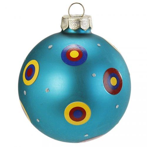Boule Noël Fantaisie Bleu N°1 (6 cm) - Verre