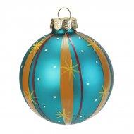 Boule Noël Fantaisie Bleu N°2 (6 cm) - Verre