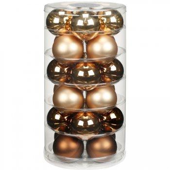 24 Boules Harmonie Or (6 cm) - Verre