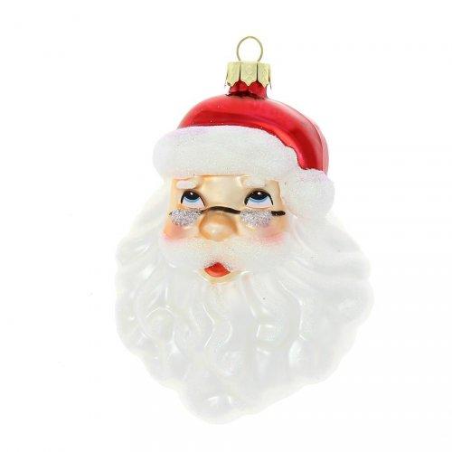 Suspension Tête de Père Noël (11 cm) - Verre