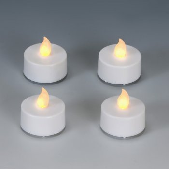 4 Bougies LED Blanches