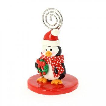 Marque-Place Pingouin de Noël (9 cm)