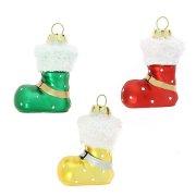 3 Suspensions Bottes Rouge/Vert/jaune (5 cm) - Verre