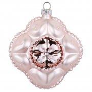 Boule Bijou Rose Fleur Royal (8 cm) - Verre