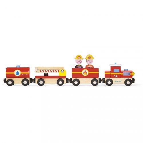 Baby Train de Pompier (34 cm) - Bois