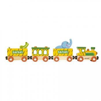 Baby Train Safari et ses Animaux (31,5 cm) - Bois