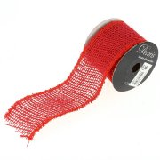 Ruban Large Jute Rouge N°2