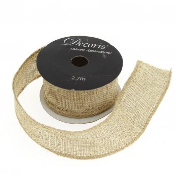 Ruban Medium Jute Paillettes Or N°1